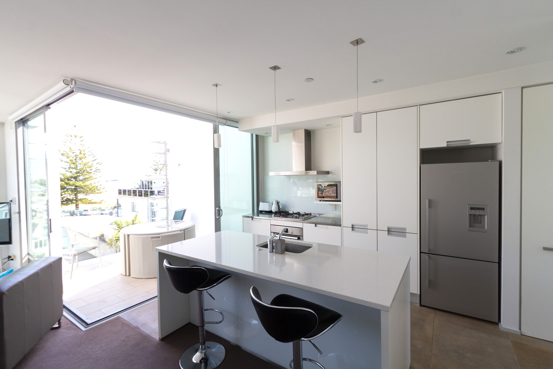 Unit 3 Kitchen Bayside Appartments Sumner Beach Christchurch