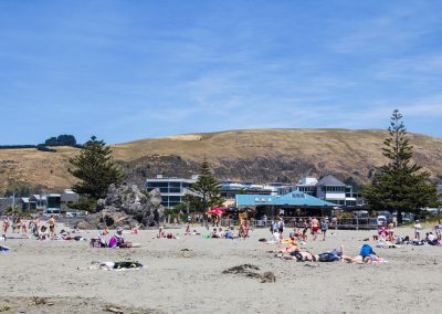 sumner beach and hills in summer